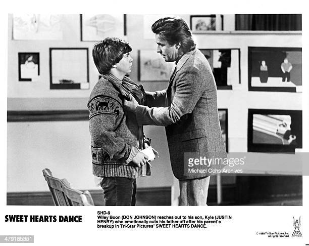 Actors Justin Henry and Don Johnson in a scene of the movie Sweet Hearts Dance circa 1988