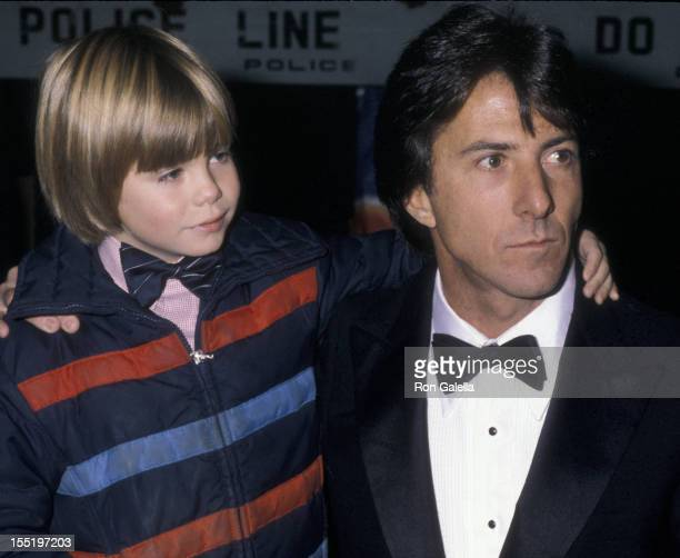 Actors Justin Henry and Dustin Hoffman attend the premiere of Kramer vs Kramer on December 17 1979 at Loew's Astor Plaza Theater in New York City