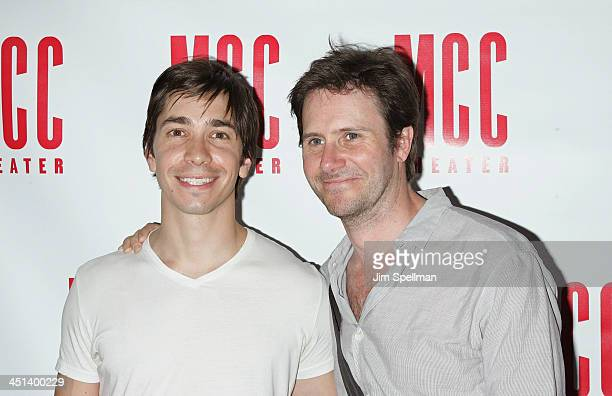 Actors Justin Long and Josh Hamilton attend the opening night party for Filthy Talk For Troubled Times Scenes of Intolerance at Ramscale on June 3...