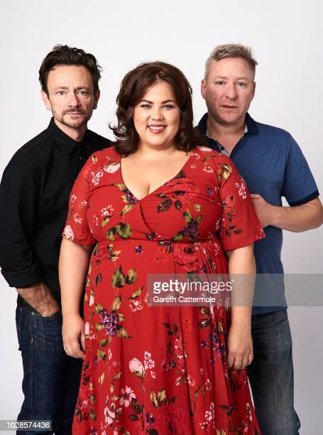 Actors Justin Salinger Ella Smith and filmmaker Richard Billingham from the film 'Ray Liz' pose for a portrait during the 2018 Toronto International...