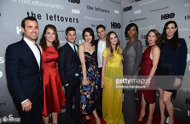 Actors Justin Theroux Amy Brenneman Charlie Carver Margaret Qualley Max Carver Emily Meade Amanda Warren Carrie Coon and Liv Tyler attend The...