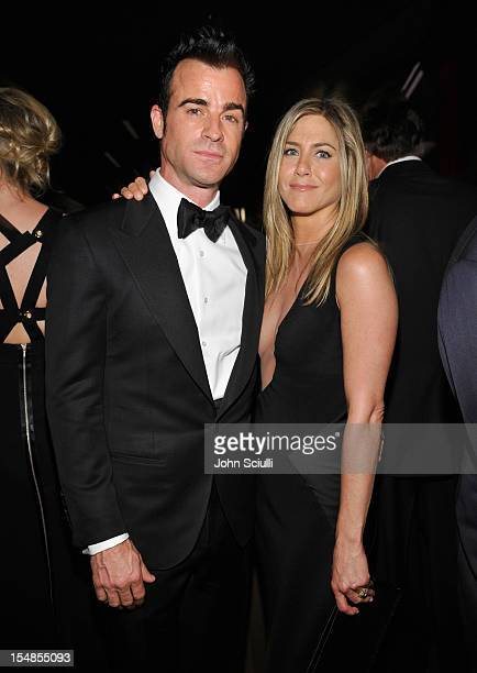 Actors Justin Theroux and Jennifer Aniston attend LACMA 2012 Art Film Gala Honoring Ed Ruscha and Stanley Kubrick presented by Gucci at LACMA on...