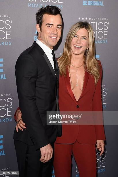 87c086e8 Actors Justin Theroux and Jennifer Aniston attend the 20th annual Critics'  Choice Movie Awards at