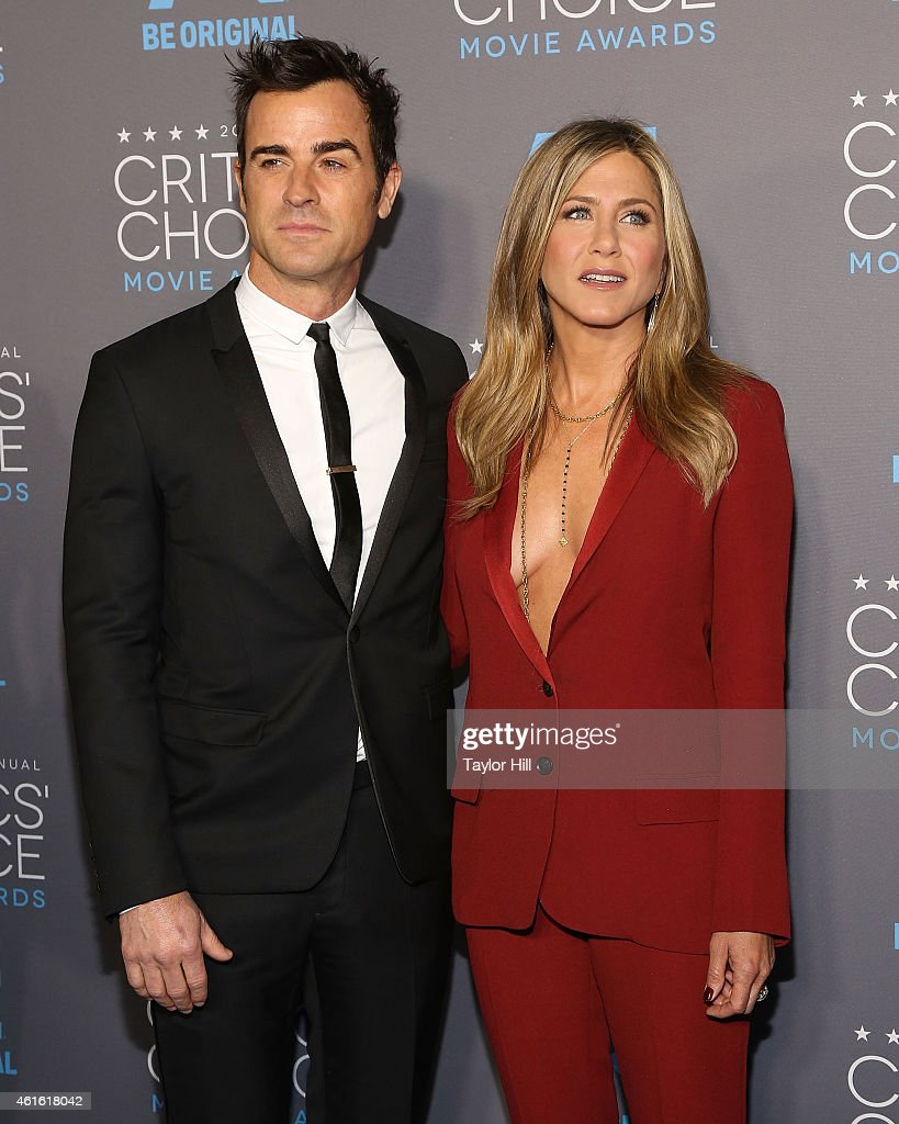 Actors Justin Theroux and Jennifer Aniston attend The 20th Annual Critics' Choice Movie Awards at Hollywood Palladium on January 15, 2015 in Los Angeles, California.