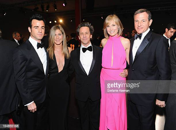 Actors Justin Theroux and Jennifer Aniston producer Brian Grazer television journalist Willow Bay and Walt Disney Company Chairman/CEO Robert Iger...