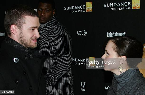 Actors Justin Timberlake and Christina Ricci arrive for the Black Snake Moan premiere at the Eccles Theater during the 2007 Sundance Film Festival on...