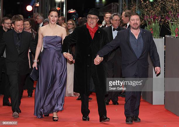 Actors Justus von Dohnanyi Martina Gedeck Festival director Dieter Kosslick and Armin Rohde attend the 'Jud Suess Film Ohne Gewissen' Premiere during...