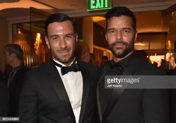 Actors Jwan Yosef and Ricky Martin attend HBO's Official 2018 Golden Globe Awards After Party on January 7 2018 in Los Angeles California