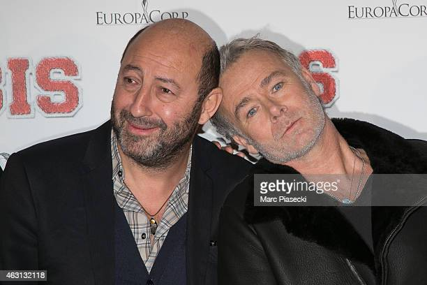 Actors Kad Merad and Franck Dubosc attend the 'Bis' Premiere at Cinema Gaumont Capucine on February 10 2015 in Paris France