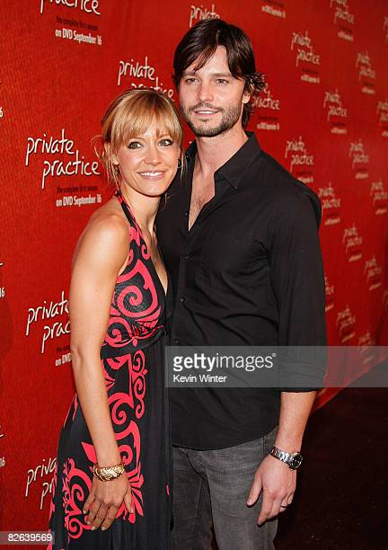 Actors KaDee Strickland and Jason Behr arrive at the ABC launch party for 'Private Practice The Complete First SeasonExtended Edition' at the...