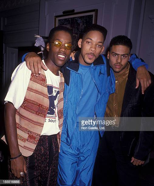 Actors Kadeem Hardison and Will Smith and Al B Sure attend the taping of Fresh Prince Of Bell Air on October 20 1990 at KTLA Studios in Hollywood...