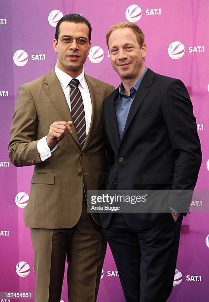Actors Kai Schumann and Johann von Buelow attend the 'Der Minister' photocall on September 21 2012 in Berlin Germany