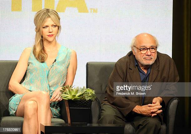 Actors Kaitlin Olson and Danny DeVito speak onstage during the 'It's Always Sunny in Philadelphia' panel discussion at the FX portion of the 2013...