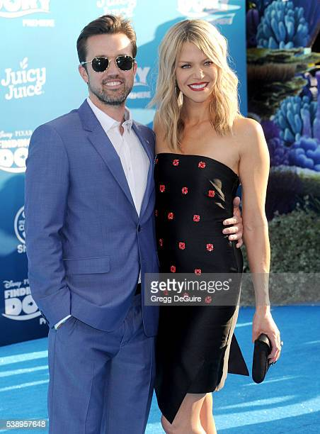 """Actors Kaitlin Olson and Rob McElhenney arrive at the World Premiere of Disney-Pixar's """"Finding Dory"""" at the El Capitan Theatre on June 8, 2016 in..."""