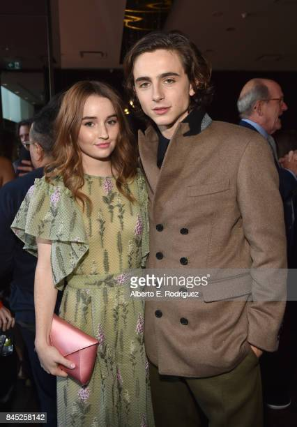 Actors Kaitlyn Dever and Timothee Chalamet attend Entertainment Weekly's Must List Party during the Toronto International Film Festival 2017 at the...