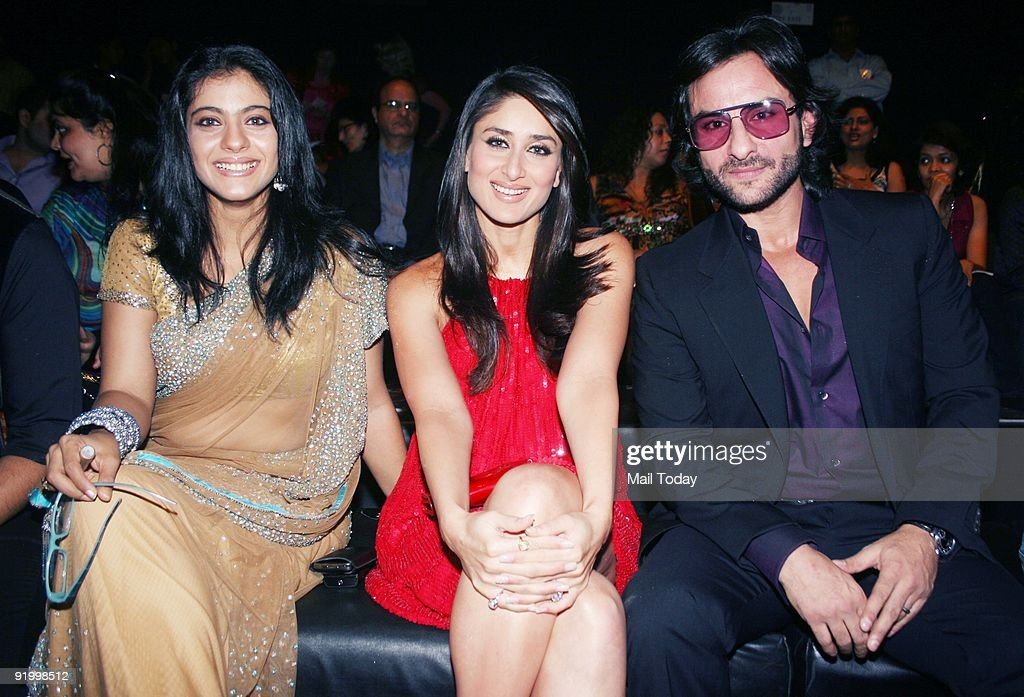 Actors KajolKareena Kapoor and Saif Ali Khan at the last day of the HDIL India Couture Week in Mumbai on Friday October 16 2009