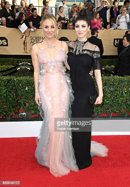 Actors Kaley and Briana Cuoco attend The 23rd Annual Screen Actors Guild Awards at The Shrine Auditorium on January 29 2017 in Los Angeles California...