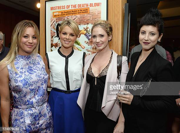 Actors Kaley Cuoco Ali Fedotowsky Ashley Jones and Briana Cuoco attend the afterparty for the premiere of AFI Sony Picture Classics' 'Blue Jamsine'...