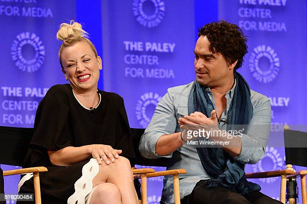 Actors Kaley Cuoco and Johnny Galecki attend The Paley Center For Media's 33rd Annual PALEYFEST Los Angeles ÔThe Big Bang Theory' at Dolby Theatre on...