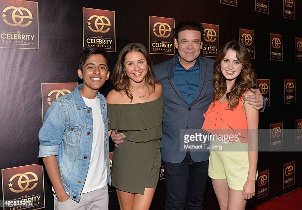 Actors Karan Brar and Electra Formosa producer George caceres and actress Laura Marano attend The Celebrity Experience Panel at Hilton Universal City...