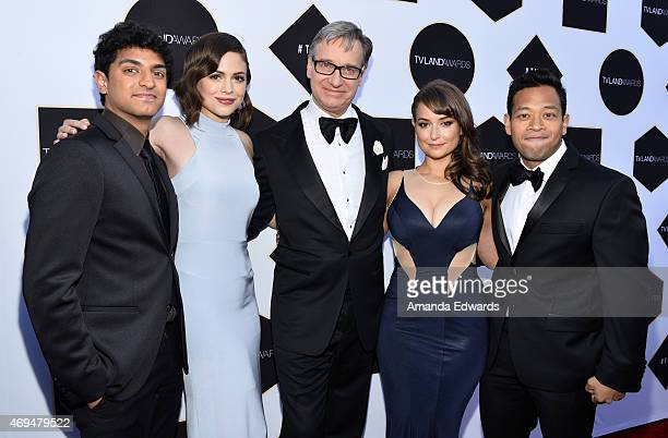 Actors Karan Soni and Conor Leslie director Paul Feig and actors Milana Vayntrub and Eugene Cordero arrive at the 2015 TV LAND Awards at the Saban...