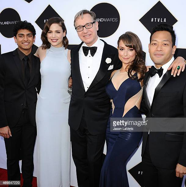 Actors Karan Soni and Conor Leslie director Paul Feig and actors Milana Vayntrub and Eugene Cordero attend the 2015 TV LAND Awards at Saban Theatre...