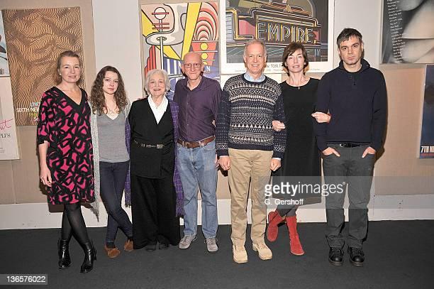 Actors Karen Young Portia Reiners Rebecca Schull director Jeff Lipsky and actors Reed Birney Julianne Nicholson and Jamie Harrold attend a sneak...
