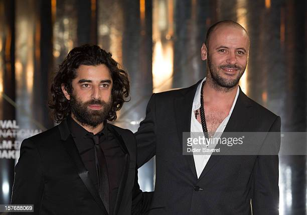 Actors Karim Saleh and Ali Suliman attend the Tribute To Karim Abouobayd during the 12th International Marrakech Film Festival on December 5 2012 in...