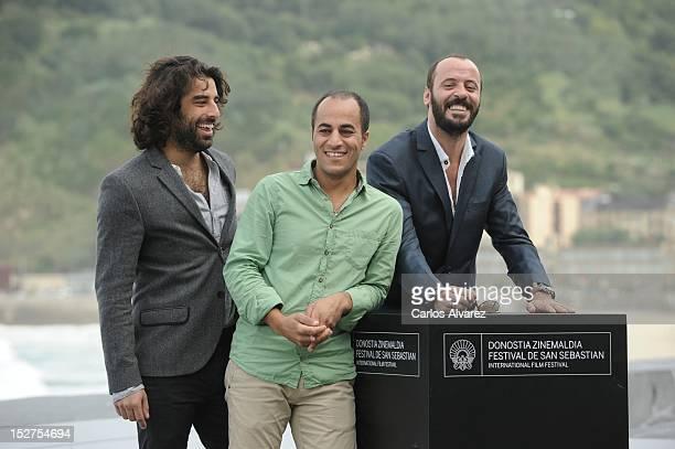 Actors Karim Saleh Ramzi Maqdisi and Ali Suliman attend the 'The Attack' photocall at the Kursaal Palace during the 60th San Sebastian International...