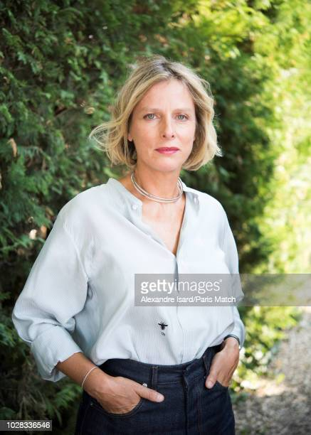 Actors Karin Viard is photographed at the 11th Francophone Film Festival for Paris Match on August 23, 2018 in Angouleme, France.