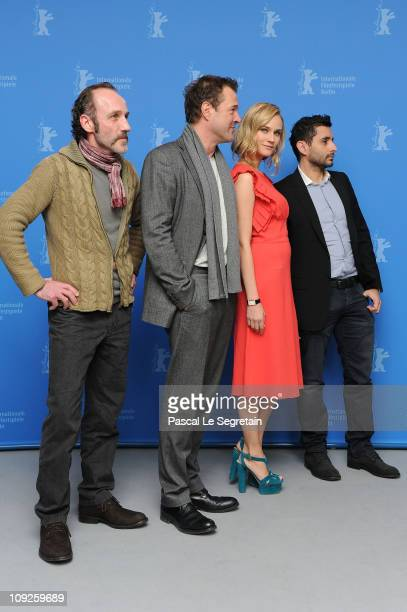 Actors Karl Markovics Sebastian Koch Diane Kruger and director Jaume ColletSerra attend the 'Unknown' Photocall during day nine of the 61st Berlin...