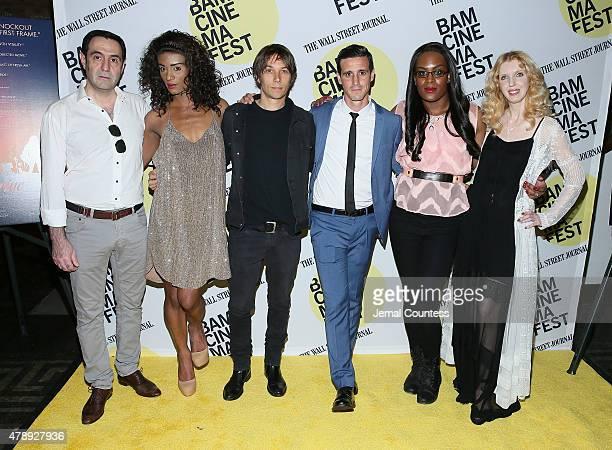 Actors Karren Karagulian Kitana Kiki Rodriguez director Sean Baker actors James Ransome Mya Taylor and Mickey O'Hagen attend the Tangerine Closing...