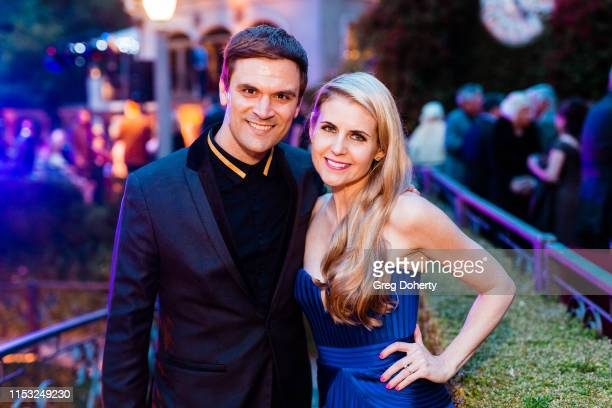 Actors Kash Hovey and Kathy Kolla attend Brooke Mark's Marriage Soiree The Magic Of Hollywood Houdini Estate on June 01 2019 in Los Angeles California
