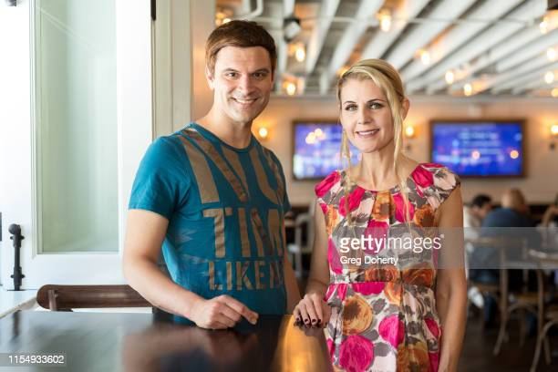 Actors Kash Hovey and Kathy Kolla attend the 5th Annual Team Up for Tourette's Red Carpet Brunch And Fundraiser at Preux Proper on June 09 2019 in...