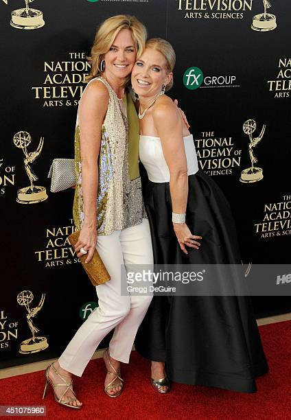 Actors Kassie DePaiva and Melissa Reeves arrive at the 41st Annual Daytime Emmy Awards at The Beverly Hilton Hotel on June 22 2014 in Beverly Hills...