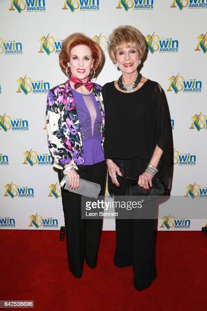 Actors Kat Kramer and Karen SharpeKramer arrives at the 18th Annual Women's Image Awards at Skirball Cultural Center on February 17 2017 in Los...