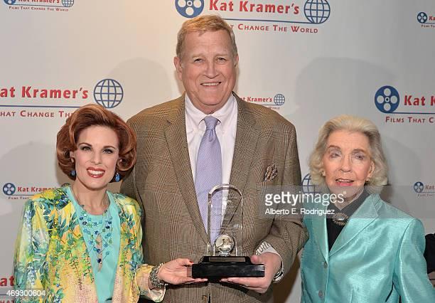 Actors Kat Kramer Ken Howard and Marsha Hunt attend Kat Kramer's Films That Change The World on April 10 2015 in Hollywood California