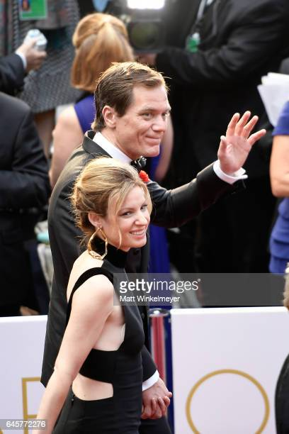 Actors Kate Arrington and Michael Shannon attend the 89th Annual Academy Awards at Hollywood Highland Center on February 26 2017 in Hollywood...