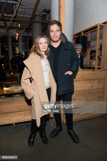 Actors Kate Arrington and Michael Shannon attend the after party for T2 Trainspotting hosted by TriStar Pictures and The Cinema Society with 19...