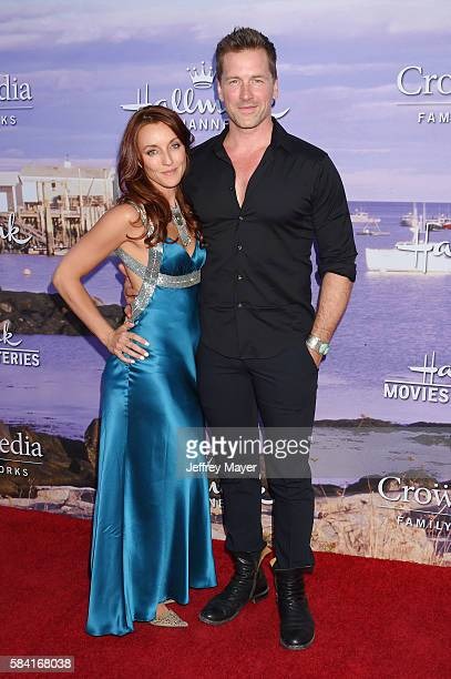 Actors Kate Austin and Paul Greene attend the Hallmark Channel and Hallmark Movies and Mysteries Summer 2016 TCA press tour event at a private...