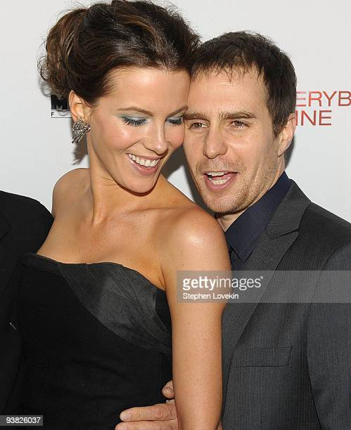Actors Kate Beckensale and Sam Rockwell attend the Tribeca Film Institute's benefit screening of Everybody's Fine at AMC Lincoln Square on December 3...