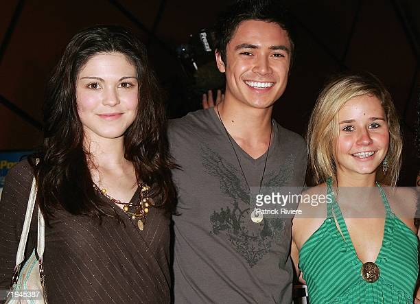 Actors Kate Bell Adam Saunders and Sophie Luck attend the premiere of 'Talladega Nights The Ballad Of Ricky Bobby' at the Greater Union Complex on...