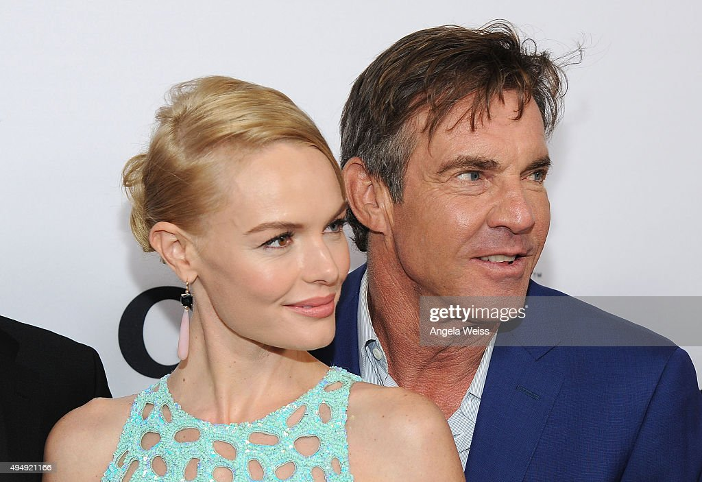 Actors Kate Bosworth and Dennis Quaid arrive at the premiere of Crackle's 'The Art of More' at Sony Pictures Studios on October 29, 2015 in Culver City, California.