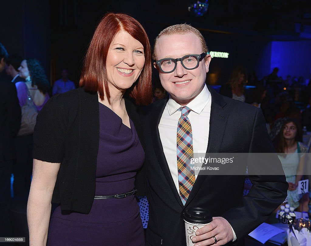 Actors Kate Flannery (L) and Brad Wollack attend the Tuberous Sclerosis Alliance Comedy For A Cure 2013 at Lure on April 7, 2013 in Hollywood, California.