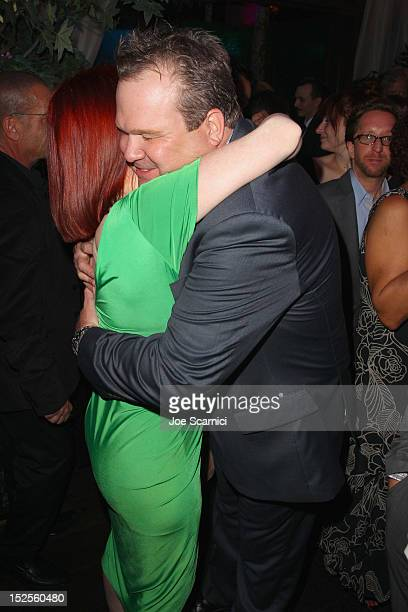 Actors Kate Flannery and Eric Stonestreet attend Variety and Women in Film PreEMMY Event presented by Saint Vintage at Scarpetta Beverly Hills on...