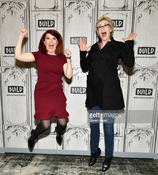 Actors Kate Flannery and Jane Lynch visit Build Series to discuss their cabaret performance 'Two Lost Souls' at The Carlyle Hotel at Build Studio on...