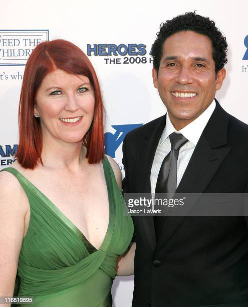 Actors Kate Flannery and Oscar Nunez attend the The 2008 Hero Awards at the Universal Hilton on June 6, 2008 in Universal City, California.