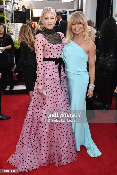 Actors Kate Hudson and Goldie Hawn attend the 24th Annual Screen Actors Guild Awards at The Shrine Auditorium on January 21 2018 in Los Angeles...