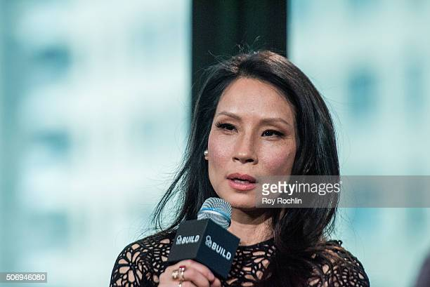 Actors Kate Hudson and Lucy Liu speak about Kung Fu Panda 3 during an AOL Build Speaker Series at AOL Studios In New York on January 26 2016 in New...
