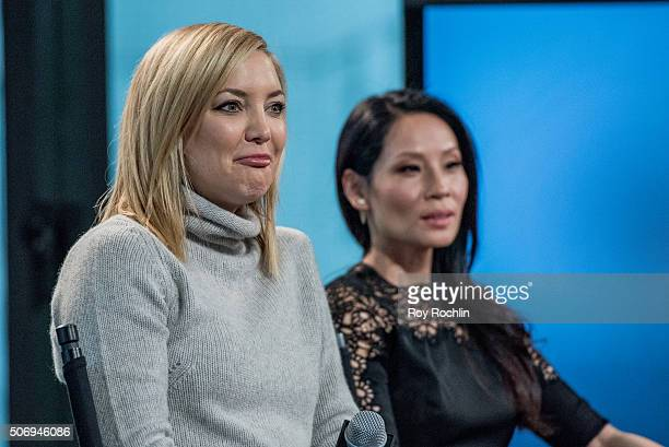 Actors Kate Hudson and Lucy Liu speak about 'Kung Fu Panda 3' during an AOL Build Speaker Series at AOL Studios In New York on January 26 2016 in New...